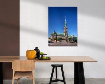 Hamburger Rathaus am Rathausmarkt, Hamburg, Deutschland, Europa von Torsten Krüger