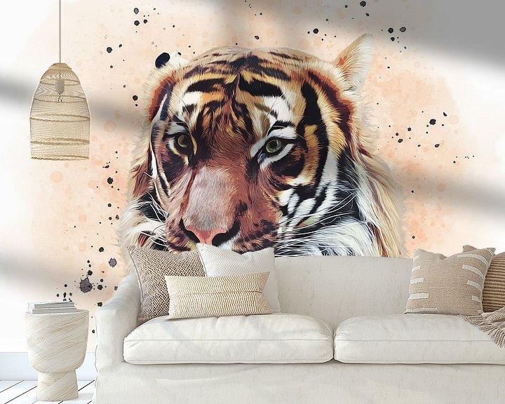 Beispiel fototapete: The Tiger von Angela Dölling