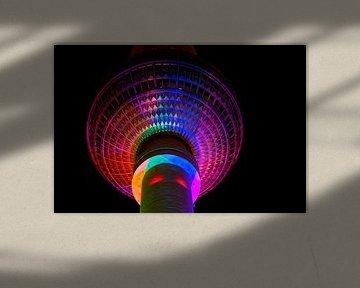 La sphère de la tour de télévision de Berlin