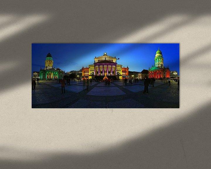 Sfeerimpressie: Berlijn Gendarmenmarkt - Panoramaschot in een bijzonder licht van Frank Herrmann
