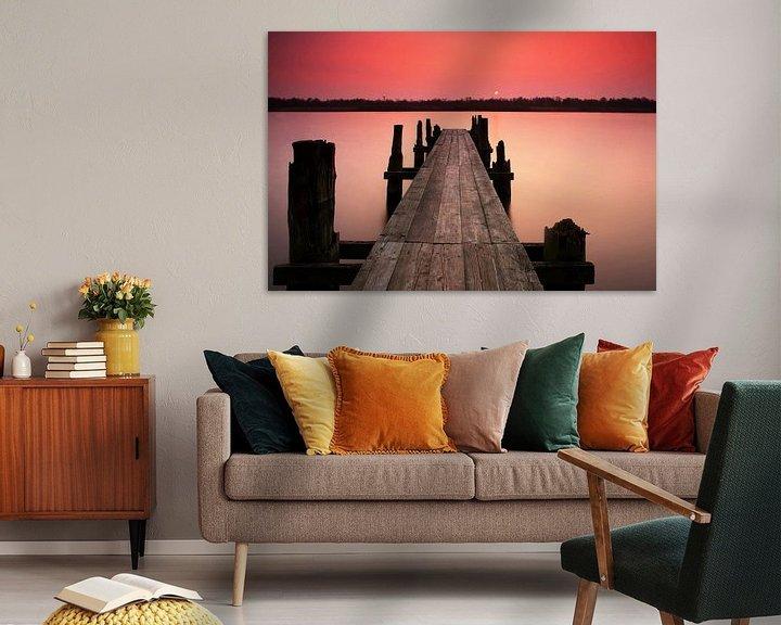 Beispiel: Steg im Sonnenuntergang von Frank Herrmann