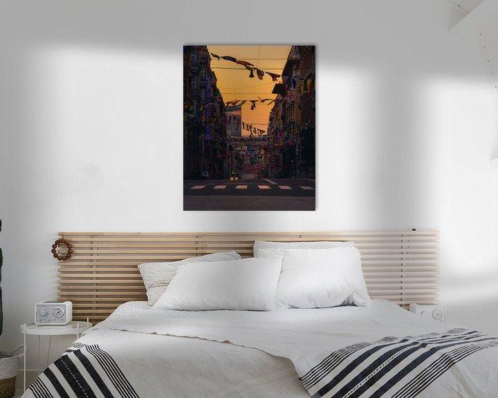 Sfeerimpressie: Zonsopgang in Genoa van Thomas Bartelds