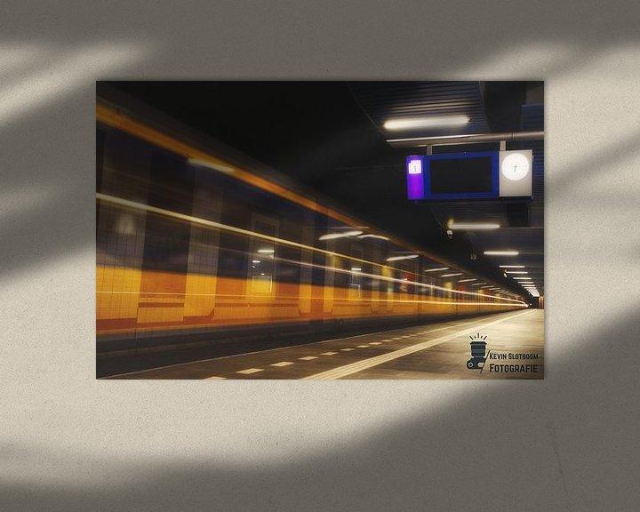 Beispiel: Intercity im Bahnhof Rotterdam-Blaak von Kevin Slotboom