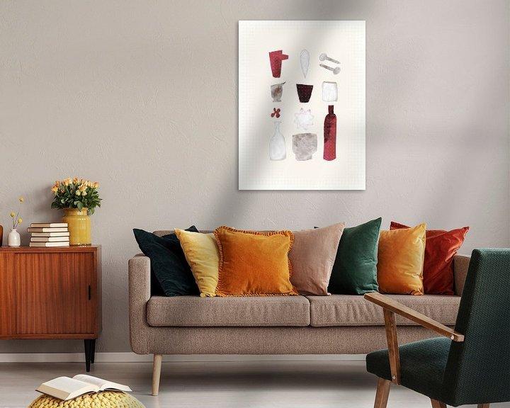 Beispiel: Komposition mit Flaschen - Flaschenschubladen von Joost Hogervorst