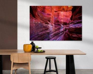Canyon dans l'Utah sur Theo van Woerden
