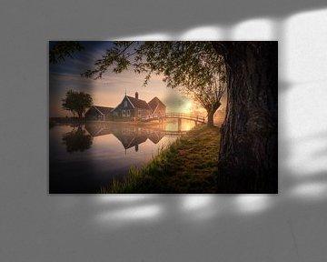Reflecties Zaanse Schans van Albert Dros