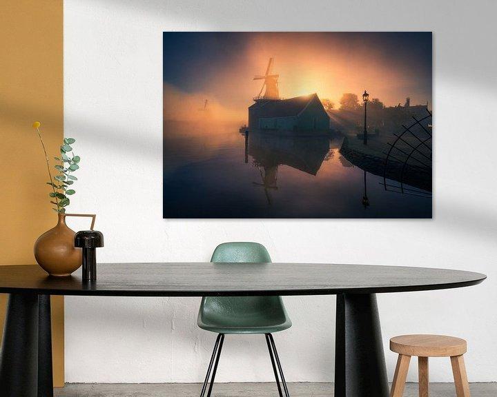 Sfeerimpressie: Mistige zonsopkomst Zaanse Schans van Albert Dros