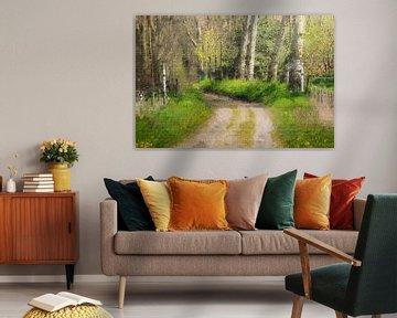 Bospad op landgoed Mattemburgh in Bergen op Zoom (kunst) van Art by Jeronimo