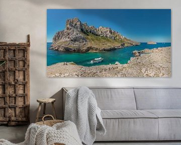 Passage des croisettes met île Maïre, Marseille, Bouches du Rhone, Frankrijk van Rene van der Meer
