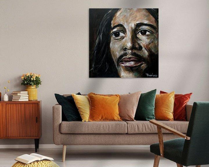 Beispiel: Porträt von Bob Marley. von Therese Brals