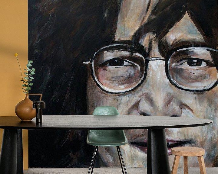 Beispiel fototapete: Porträt von John Lennon. von Therese Brals