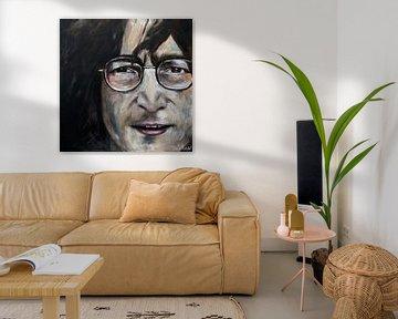 Porträt von John Lennon. von Therese Brals