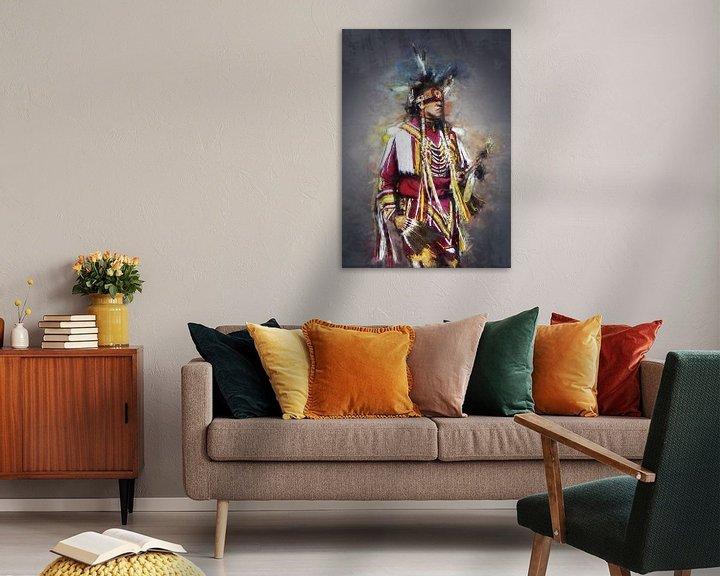 Beispiel: Ölgemälde-Porträt eines Inders von Bert Hooijer
