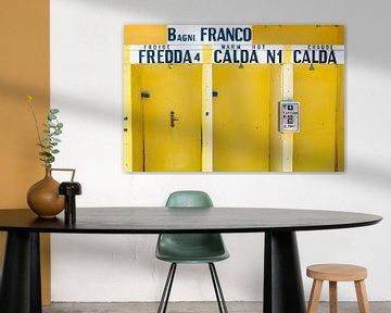 Gele douchecabines in Italie