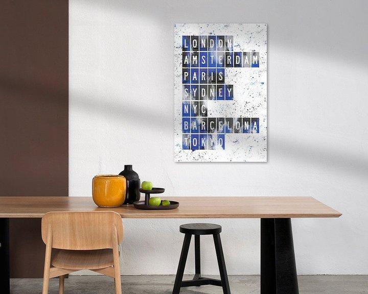 Beispiel: Fernweh   blau von Melanie Viola