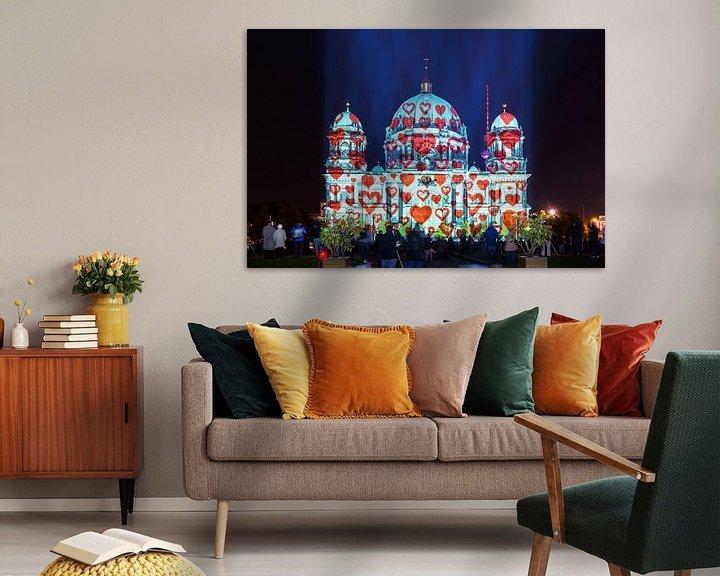 Sfeerimpressie: Berlijnse kathedraal met harten van Frank Herrmann