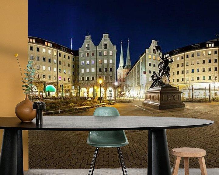 Impression: Panorama du Nikolaiviertel Berlin à l'heure bleue sur Frank Herrmann