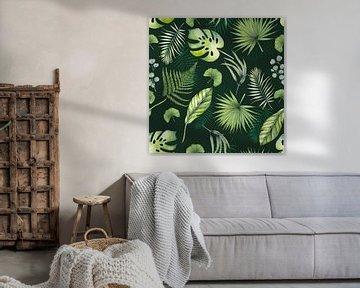 Tropisches Blattmuster von Geertje Burgers