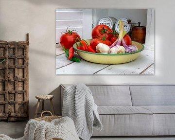 Tomaten en knoflook van Uwe Merkel