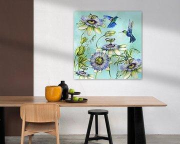 Passionsblumen Kolibri von Geertje Burgers