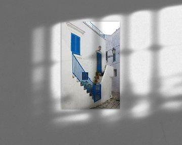 Bleu et blanc sur Berthold Werner