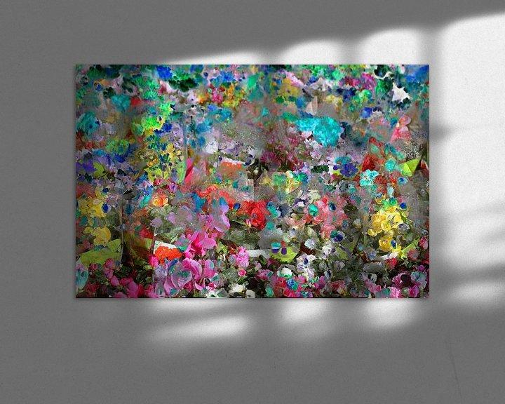 Beispiel: bunte Farbtupfer, abstrakt, Blüte, Blumen, Farbfläche von Torsten Krüger