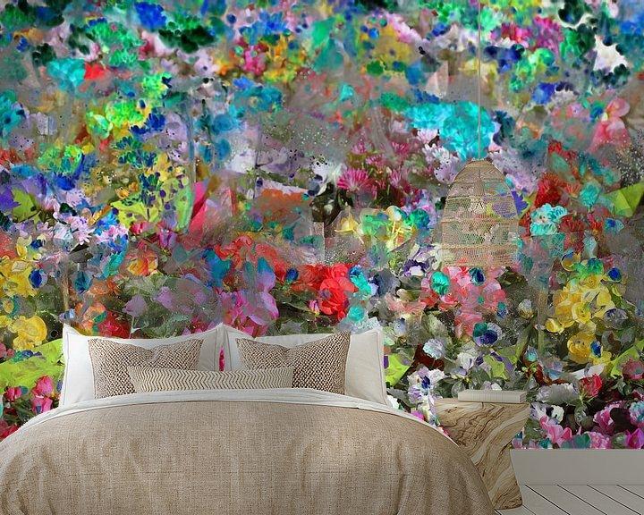 Beispiel fototapete: bunte Farbtupfer, abstrakt, Blüte, Blumen, Farbfläche von Torsten Krüger