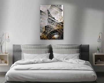 Eiffelturm    Vintage gold von Melanie Viola