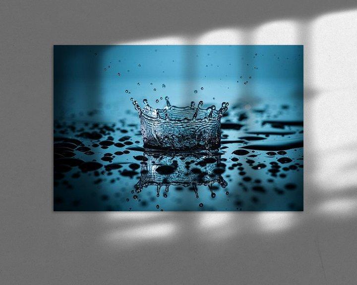 Impression: Gouttes d'eau sur René van der Horst