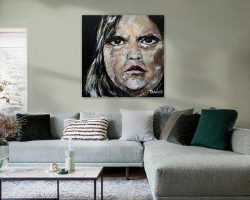 Portret van Meat Loaf, Marvin Lee Aday van Therese Brals