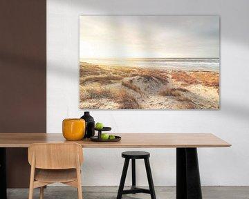 La côte dorée de la mer du Nord au Danemark sur Florian Kunde