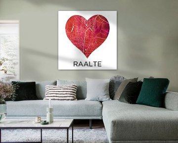 Liebe zu Raalte | Stadtplan im Herzen von Wereldkaarten.Shop