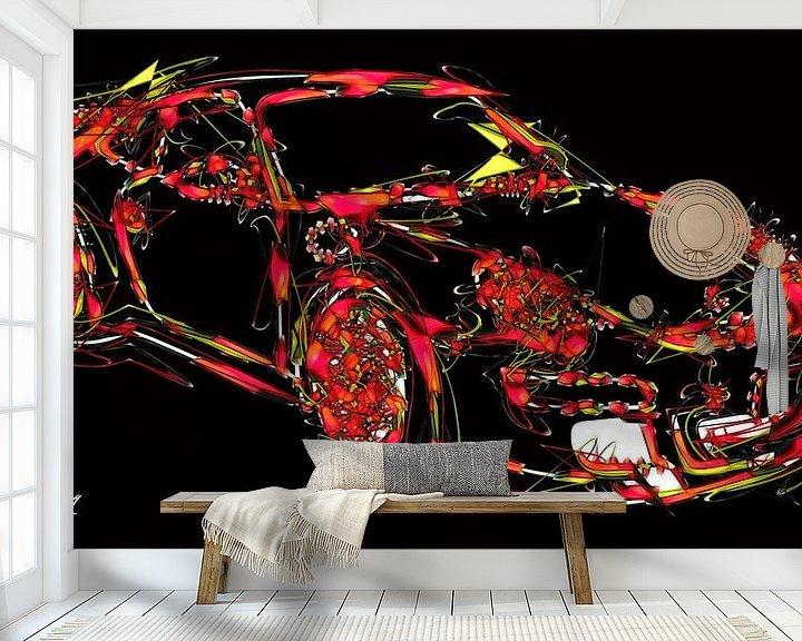 Beispiel fototapete: Galaktischer Porsche von Christophe Schircker TOV