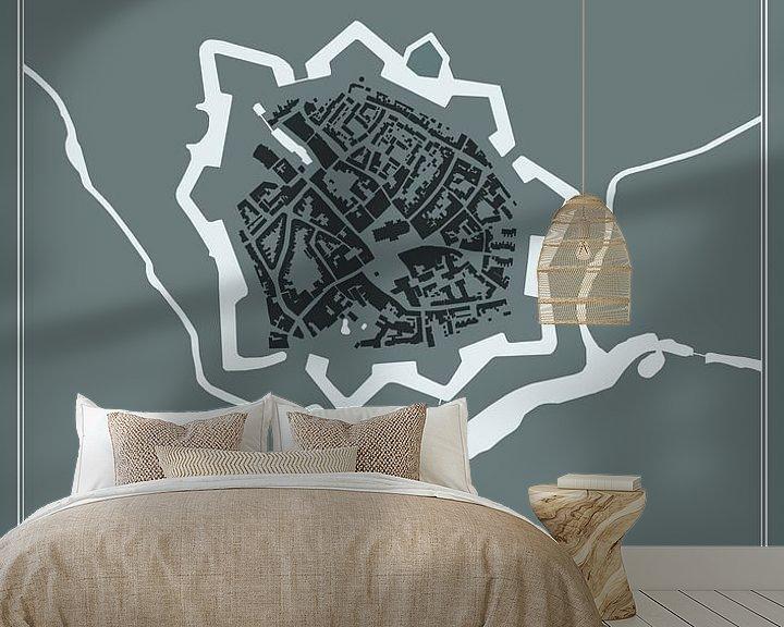 Beispiel fototapete: Festungsstadt - Stechpalme von Dennis Morshuis