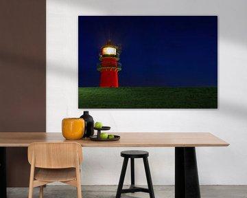 Leuchtturm hinter dem Deich von Frank Herrmann