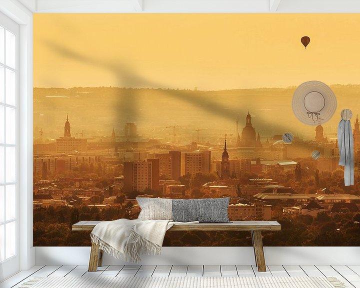 Sfeerimpressie behang: Dresden zonsondergang van Frank Herrmann