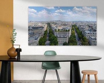 Uitzicht over Parijs vanaf de Arc d'Triomphe van Jefra Creations