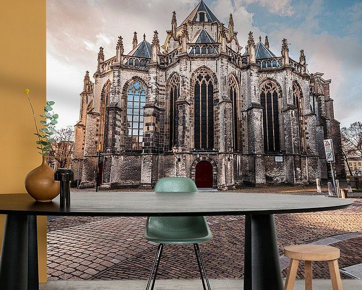 Sfeerimpressie behang: Grote Kerk of Onze-Lieve-Vrouwekerk Dordrecht van Danny van der Waal
