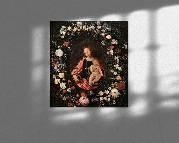 Beispiel: Jungfrau mit Blumen, Daniël Seghers