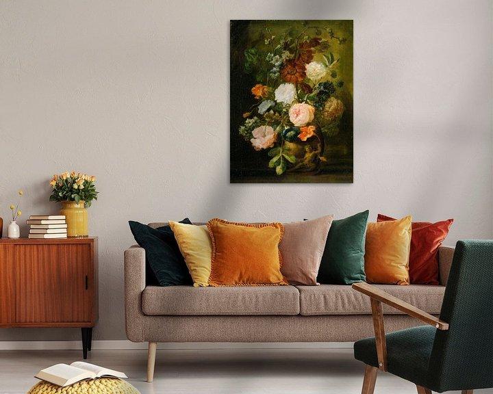 Beispiel: Blumenvase, Anhänger von Jan van Huysum