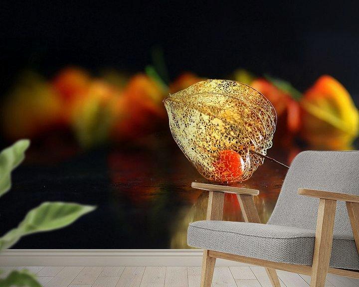 Sfeerimpressie behang: Lampionplant van Henk Langerak