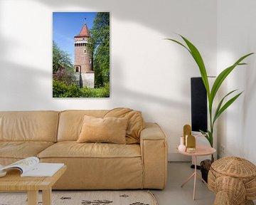 Medival Town wall with Tower in Planty Park, Stare Miasto old town, Krakow, Lesser Poland, Poland, E von Torsten Krüger