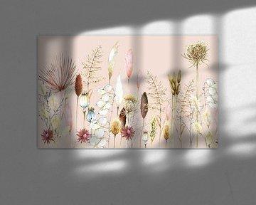 Droogbloemen en pampusgras van Geertje Burgers