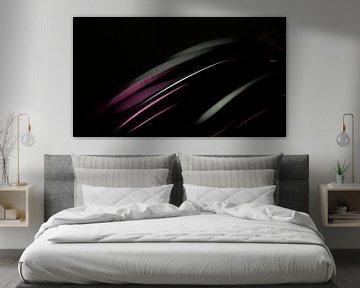 Fließende violetten Linien von Niels Eric Fotografie