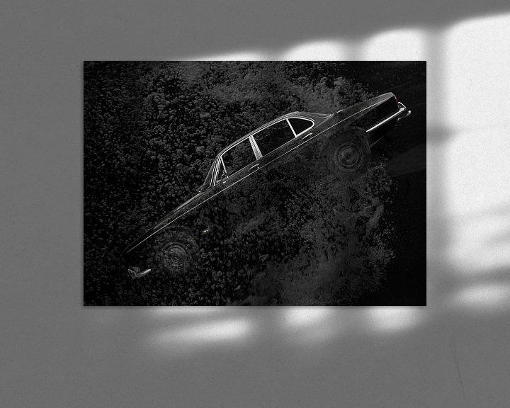 Sfeerimpressie: Jaguar XJ Series 1 in zwart diep water van aRi F. Huber