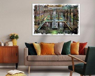Einkaufszentrum De Zeeland in Bergen op Zoom (Kunst) von Art by Jeronimo