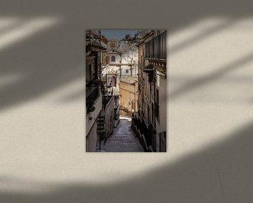Straße in Ragusa von Eric van Nieuwland