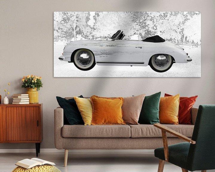 Beispiel: Porsche 356 A 1500 Super in graphit von aRi F. Huber
