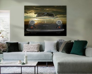 Porsche 356 A 1500 Super bij zonsondergang van aRi F. Huber