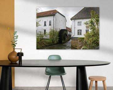 Wassermühle entlang der Geul in Mechelen, Limburg, Niederlande von Ger Beekes
